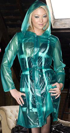 Raincoats For Women Polka Dots Code: 7090881243 Vinyl Raincoat, Pvc Raincoat, Plastic Raincoat, Hooded Raincoat, Girls Raincoat, Green Raincoat, Latex Babe, Imper Pvc, Leather