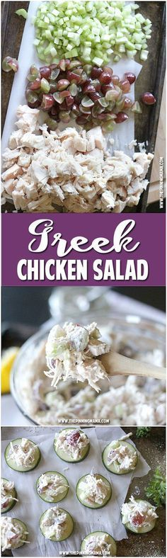 Greek Chicken Salad #healthy