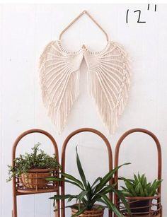 Macrame Angel Wings Kit with pattern/tutorial | Etsy Angel Wings Art, Macramé Angel, Angel Wings Wall Decor, Macrame Wall Hanging Diy, Macrame Art, Macrame Design, Macrame Projects, 3d Origami, Origami Boot
