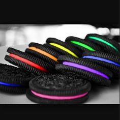 Rainbow Oreo's