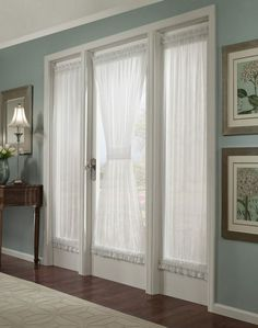French Doors With Curtains custom curtains, french door curtains with ties, burlap curtains