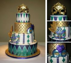 Sweet Sixteen Masquerade Cake - NJ Custom Cakes