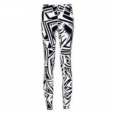 975ce5c3570 Abstract Black and White Printed Leggings. Graphic PrintsPrint LeggingsSports  LeggingsWorkout LeggingsWomen s LeggingsAdventure TimeFitness PantsGuli Women s ...