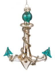 Turquoise Tipped Anchor Ornament
