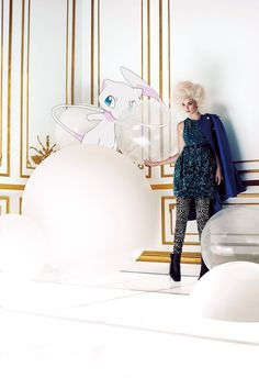 Pokemon & Fashion | Flare September 2012 | Hannah Glasby & Mew