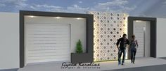 muro Beton Design, Concrete Design, Boundry Wall, Decorative Concrete Blocks, Exterior Wall Tiles, Compound Wall, House Gate Design, Modern Style Homes, Building Exterior