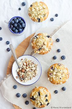 Blueberry Nut Muffins are delicious for breakfast!