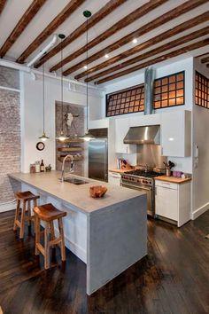 cozinhas com bancadas de concreto