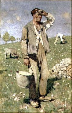 Stonepickers, Mid-day, 1882, George Clausen