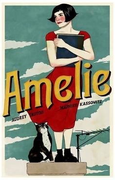 Amelie Rooftop Art Audrey Tautou Movie Poster 11x17