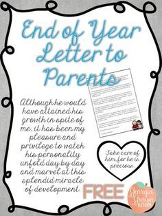 This end of the year letter to parents is a way to express your appreciation and sentiment to your students and their families.  I have had the privilege of teaching wonderful kids with fantastic families.  We always had an end of year awards and recognition celebration.