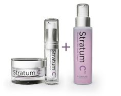 For the month of February, you can receive a FREE cleanser when you order our Special Value Combined Pack of Protect Cream and Repair Serum. Exclusively at www.stratumc.com