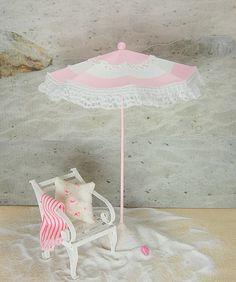 Dollhouse Beach Umbrella So Shabby Pink and by Memoriesnminiature,