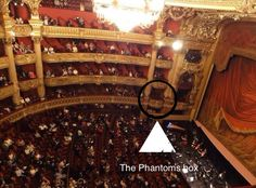 The Phantoms box 5. I went to The Opera Garnier and the tour guide told me they keep it open because of the book The Phantom of the Opera