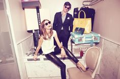 Olivia Palermo and Johannes Huebl model for Lifestyle Mirror