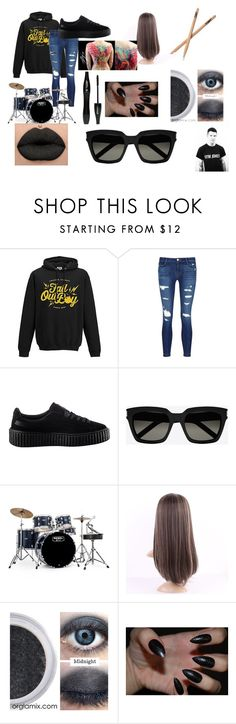 """""""andy hurley look"""" by xsarahstumpx ❤ liked on Polyvore featuring J Brand, Puma, Yves Saint Laurent, Mapex, Lancôme and Hurley"""