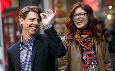 Christian Borle and Debra Messing as composer-lyricist duo Tom Levitt and Julia Houston in NBC's Smash