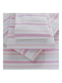Striped Flannelette Duvet Cover Set, £32