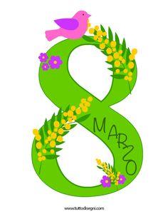 8 Marzo - Festa donna - Tutto Disegni