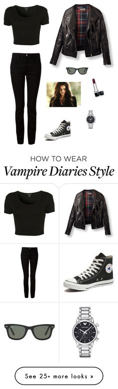 """Untitled #845"" by francyrizzo on Polyvore featuring Topshop, Alexander Wang, Converse, Ray-Ban, Christian Dior and Emporio Armani"