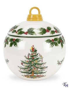 "Christmas Tree Cookie jar 9.5x8.5"" by Spode"