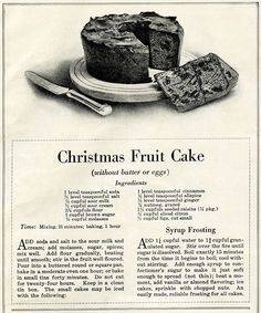 I enjoy cooking and baking but I've never tried baking an authentic Christmas fruit cake. Maybe someday? If I do, it will only be to say I did – but don't hold your breath. Retro Recipes, Old Recipes, Vintage Recipes, Cake Recipes, Christmas Desserts, Christmas Treats, Christmas Baking, Christmas Fruitcake, Christmas Fruit Cake Recipe