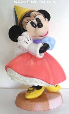 """Minnie Mouse WDCC Walt Disney Classics Collection. From the cartoon classic Brave Little Tailor, porcelain figurine is 6 1/2″ tall. """"Princess Minnie"""" is retired. $185."""