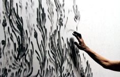likeafieldmouse: Judith Braun- Fingerings (2010-12) - Fingers dipped in charcoal An amazing way to make a drawing
