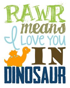 Let The World Hear You Roar Dinosaur Wall Art Dinosaur