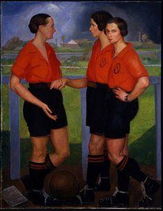 Ángel Zárraga Argüelles, 'Las futbolistas', México, 1922 / arte, pintura, feminidad, feminismo