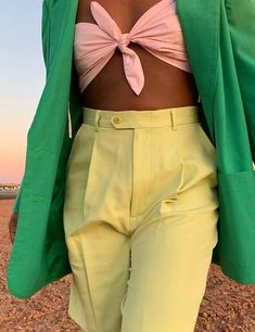 Color Combinations For Clothes, Color Blocking Outfits, Mode Outfits, Fashion Outfits, Womens Fashion, Fashion Trends, Colourful Outfits, Colorful Fashion, Mode Pastel