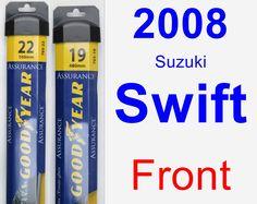 Front Wiper Blade Pack for 2008 Suzuki Swift - Assurance