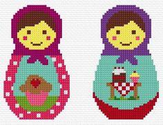 Free Matryoshka Cross Stitch Chart Pattern