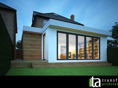 Contemporary single storey grass roof extension – Home decoration ideas and garde ideas House Extension Design, Glass Extension, Extension Designs, Roof Extension, House Design, Extension Ideas, Flat Roof Design, Orangery Extension, Bungalow Extensions