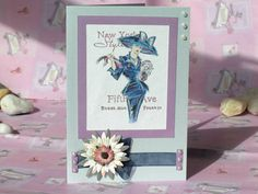 New York Style Greeting Card Blue Fashion Card by 4SeasonCards, €7.50