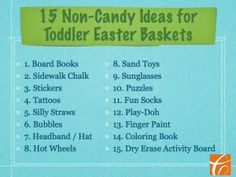15 Non-Candy Ideas for Toddler Easter Baskets