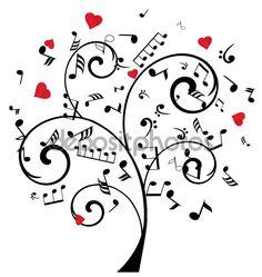 Árbol de notas de música Vector — Vector de stock © lilac-design ...