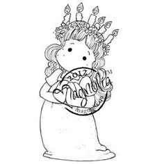 Magnolia Nativity Cling Rubber Stamp Santa Lucia