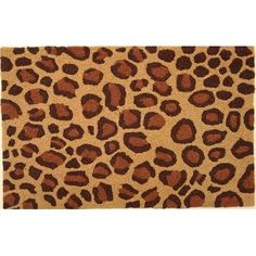 Jellybean - Leopard Print by Jellybean. $34.99. Weight Capacity:. Width:. Total Length:. Color: Brown|Natural. Material:. This statement making rug features a leopard print pattern on a tan background with caramel and chocolate brown spots. No need to be scared of this rug it is actually very soft and 100% animal friendly! The Jellybean Collection is handmade out of 50% polypropylene and 50% acrylic with polypropylene backing. 35% of the material in a Jellybean rug ...