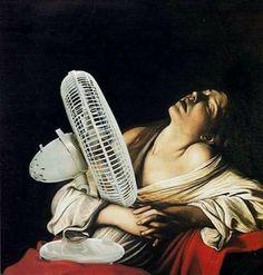 Estate Maria Maddalena in estasi - Caravaggio Art History Memes, Classical Art Memes, Art Jokes, Photo Chat, Photocollage, Caravaggio, Arte Pop, Funny Art, Funny Gifs