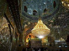 Aramgah-e Shah-e Cheragh (Mirrored Mausoleum for Imam Reza's brothers) in Shiraz, Iran.