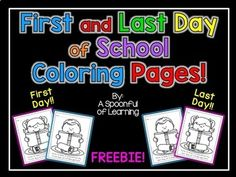 First and Last Day of School Coloring Pages