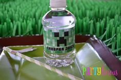 Free Printable Minecraft Invitations   special thanks to Jillian from Catch My Party for already featuring ...