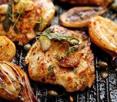 Běžná bílkovinová jídla | Recepty | KetoDiet CZ Lchf, Tandoori Chicken, Salmon Burgers, Baked Potato, Paleo, Food And Drink, Low Carb, Meat, Cooking