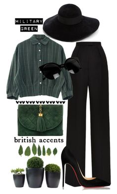 """""""#gogreen"""" by ana-anny-blagojevic ❤ liked on Polyvore featuring Vilshenko, Chanel, Christian Louboutin, Eugenia Kim and Gogreen"""