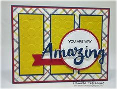 """airbornewife's stamping spot: MOJO444 """"YOU ARE WAY AMAZING"""" card using MFT stamps/dies from TDLLC *W/MEASUREMENTS"""