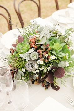 rustic centerpiece // photo by Louisa Bailey // florals by The Flower Jar // styling by The Style Co. // View more: http://ruffledblog.com/melbourne-rustic-wedding/