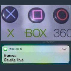 And the triangle it the Illuminati
