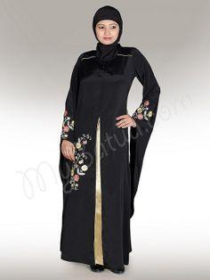 Sarah Abaya !   Style No: Ay-156   Shopping Link  : http://www.mybatua.com/sarah-abaya   Available Sizes XS to 7XL (size chart: http://www.mybatua.com/size-chart/#ABAYA/JILBAB)