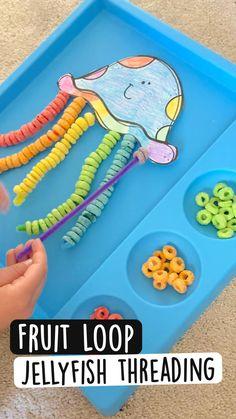 Preschool Learning Activities, Infant Activities, Science Activities For Preschoolers, Educational Crafts For Toddlers, Summer Activities For Preschoolers, Art Crafts For Kids, Ocean Kids Crafts, Arts And Crafts For Kids Toddlers, Outside Activities For Kids